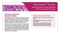PneumaCult™-Ex Plus: Generate More Airway Epithelial Cells for Extended Passages