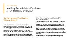 Raw Material Qualification