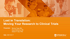 Lost in Translation - Moving Your Research to Clinical Trials