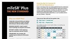 mTeSR™ Plus Product Overview Flyer