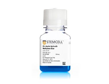 3% Acetic Acid with Methylene Blue