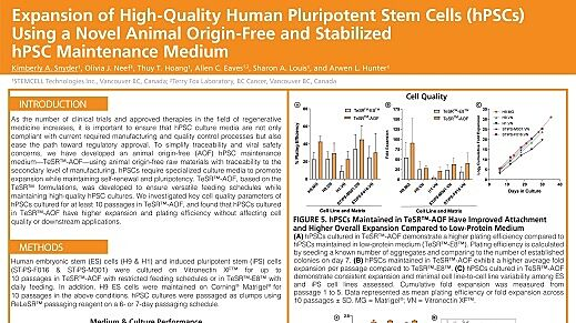 Expansion of High-Quality Human Pluripotent Stem Cells (hPSCs) Using a Novel Animal Origin-Free