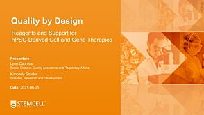 Quality by Design: Reagents and Support for hPSC-Derived Cell and Gene Therapies