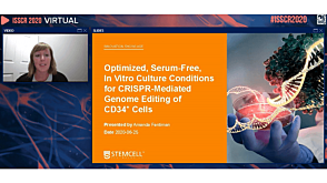 Optimized, Serum-Free, In Vitro Culture Conditions for CRISPR-Mediated Genome Editing of CD34+ Cells