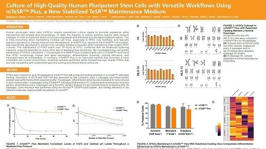 Culture of High-Quality Human Pluripotent Stem Cells with Versatile Workflows Using mTeSR™ Plus, a New Stabilized TeSR™ Maintenance Medium