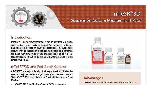 mTeSR™3D Suspension Culture Medium for hPSCs