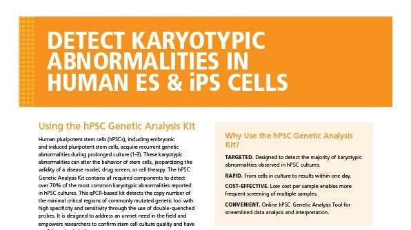 Detect Karyotypic Abnormalities in Human ES & iPS Cells