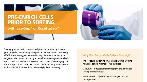 Cell Enrichment Prior to Cell Sorting