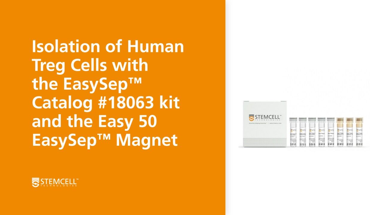 How to Isolate Human Regulatory T Cells (Tregs) Using the Easy 50 EasySep™ Magnet