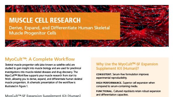 Derive, Expand, and Differentiate Human Skeletal Muscle Progenitor Cells