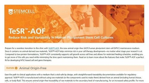 TeSR™-AOF Product Overview Flyer