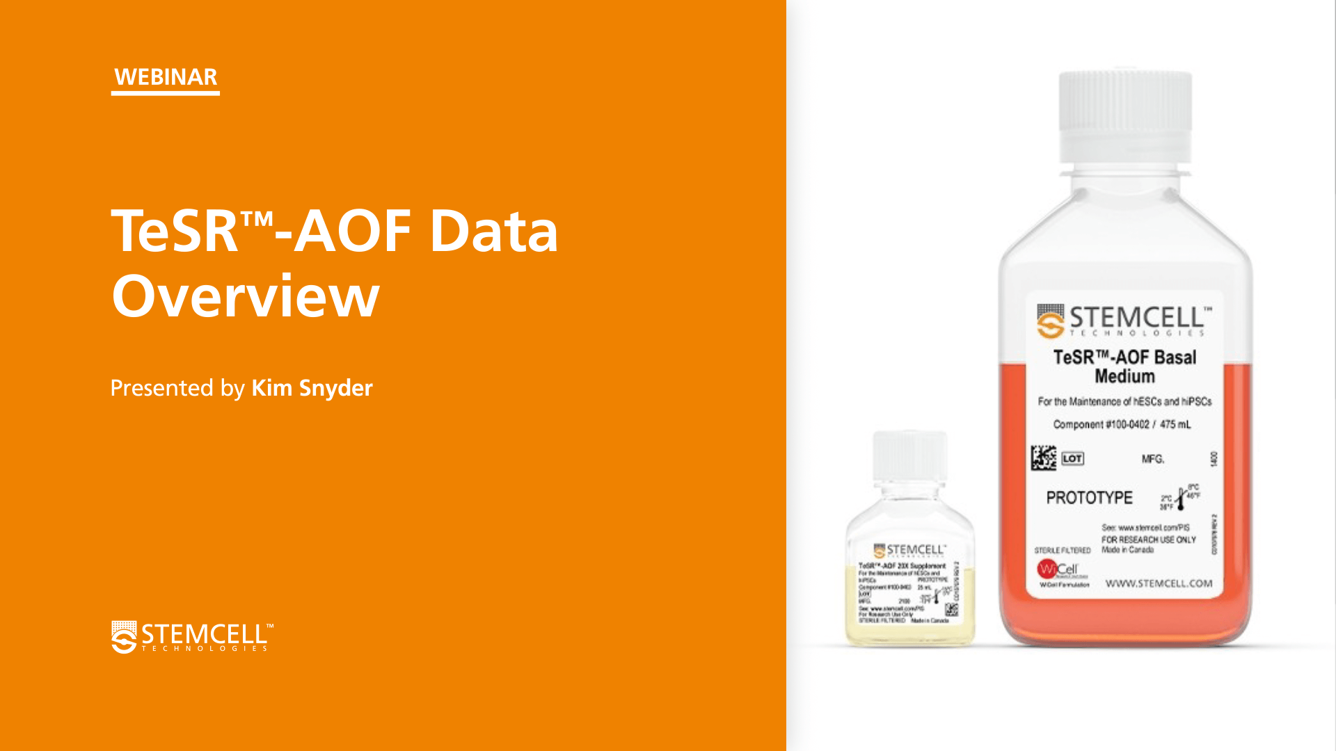 TeSR™-AOF Data Overview