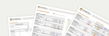 Lab templates, checklists and spreadsheets