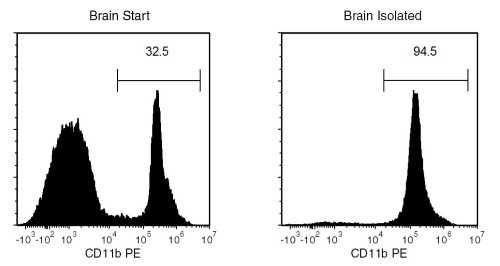 Typical EasySep™ Mouse CD11b Positive Selection Profile from Mouse Brain Tissue