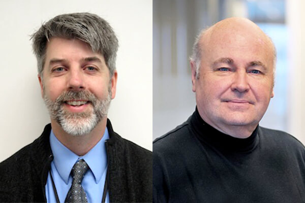 Image of speakers, Dr. Adrian Gee and Dr. David McKenna