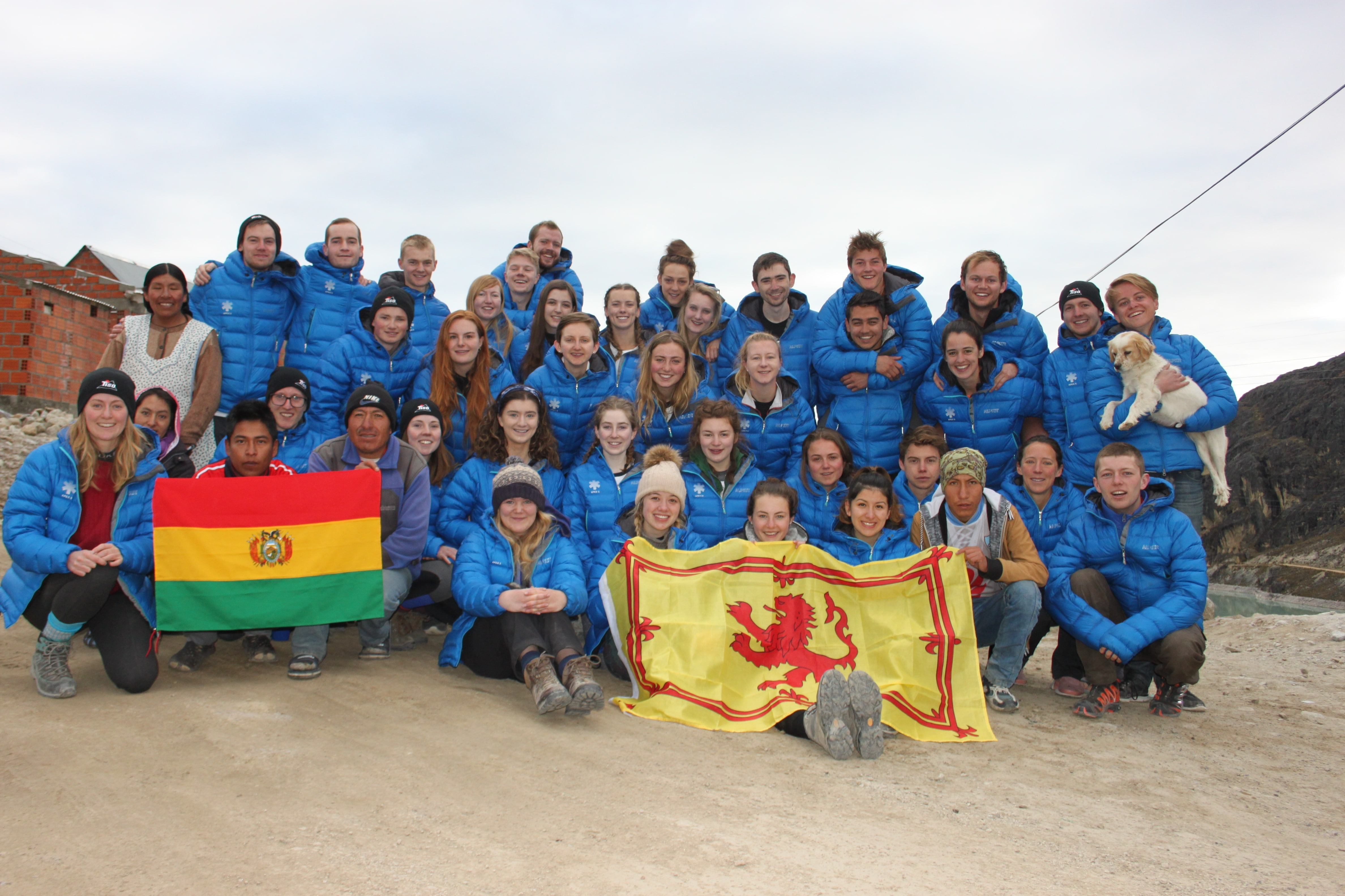 The APEX 5 expedition team in Huayna Potosi, Bolivia