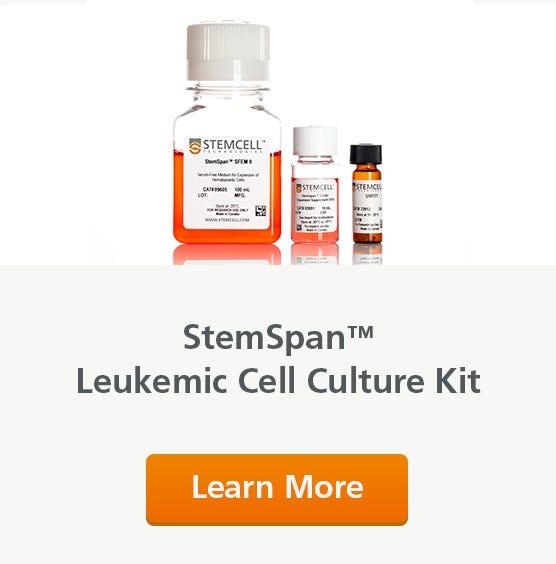 StemSpan™ Leukemic Cell Culture Kit: Culture, expand, and drug screen chronic and acute myeloid leukemia cells